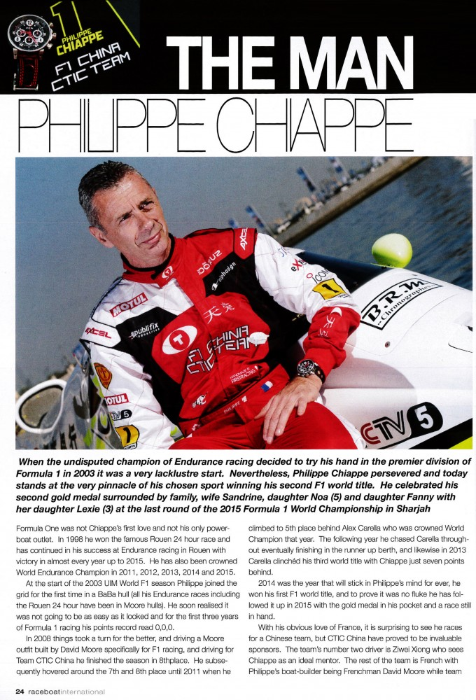 Raceboat international – The Man Philippe Chiappe
