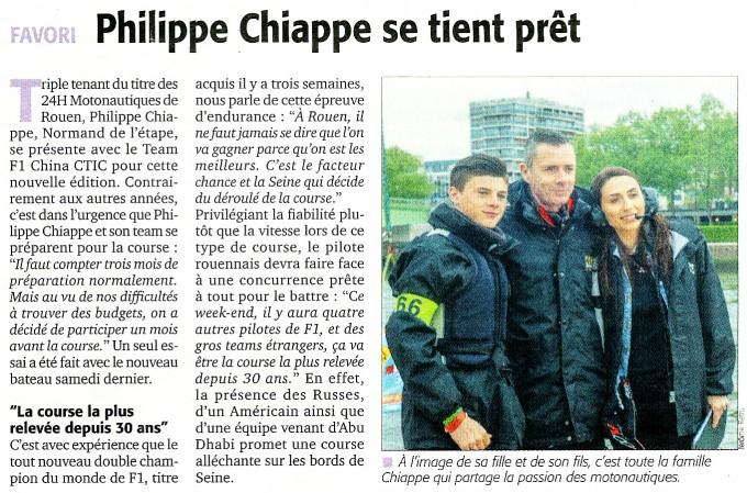 Philippe CHIAPPE se tient prêt.